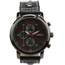 Load image into Gallery viewer, Men Leather Sports Quartz Watch