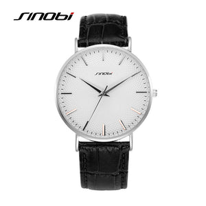 SINOBI Waterproof Men Leather Watch