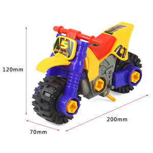 Mini Dismounting Beach Motorcycle Puzzle Toy