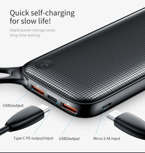 Baseus 20000mAh Dual USB Quick Charge 3.0 Power Bank For Samsung - Jamesen