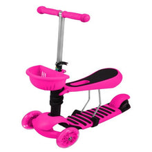 Load image into Gallery viewer, Tricycle Scooter LED Wheels PINK