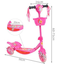 Load image into Gallery viewer, PLAYING SHINING SCOOTER * BLUE * PINK * Adjustable Steering Wheels