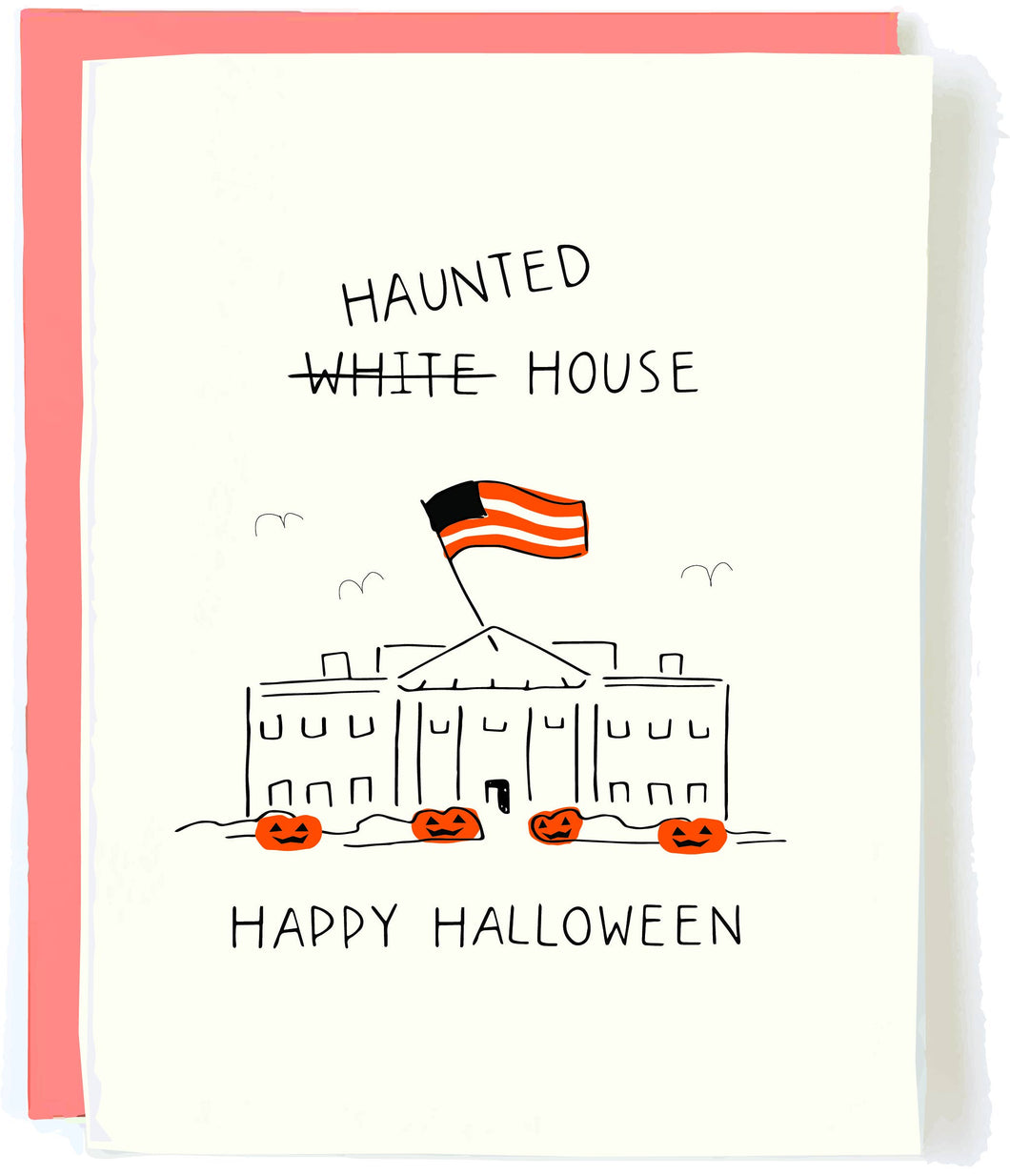 Haunted White House Card