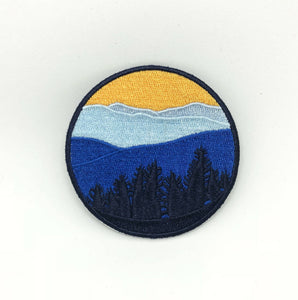 Sunset Mountains Iron On Patch