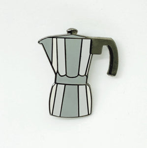 Moka Espresso Coffee Pot Hard Enamel Pin