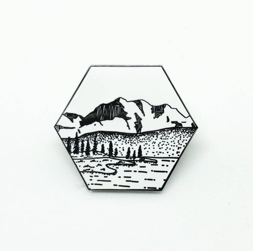 Mountain Nature Landscape Pin
