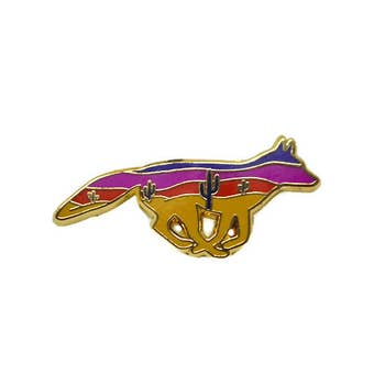 Coyote Enamel Pin