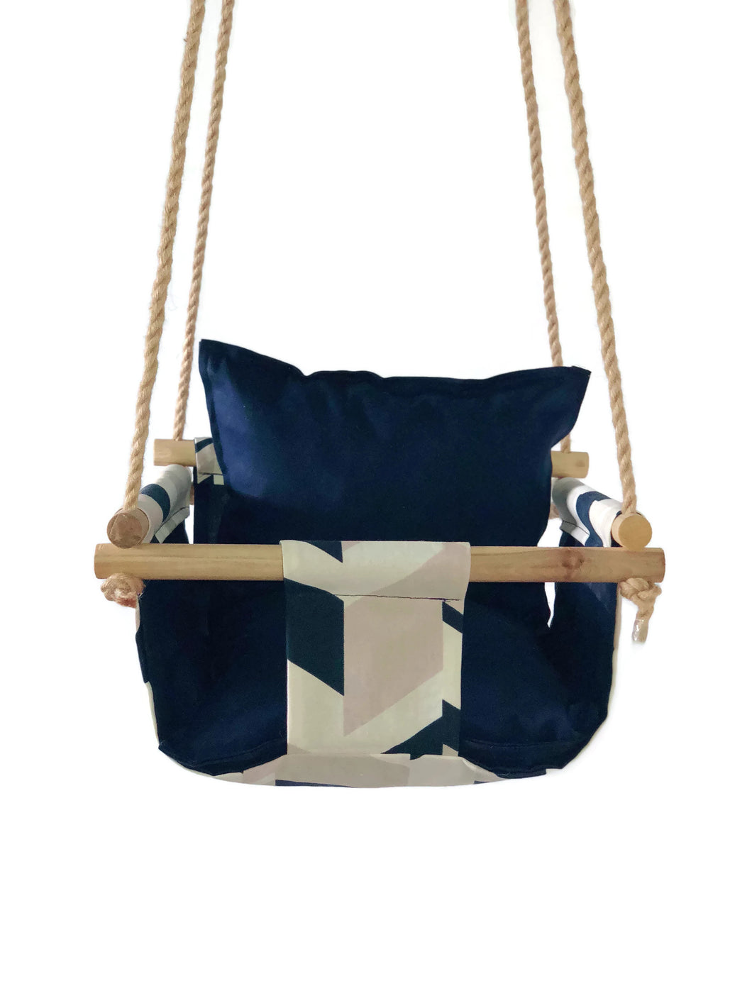 Scout Baby Co. - Navy Geometric Baby Swing