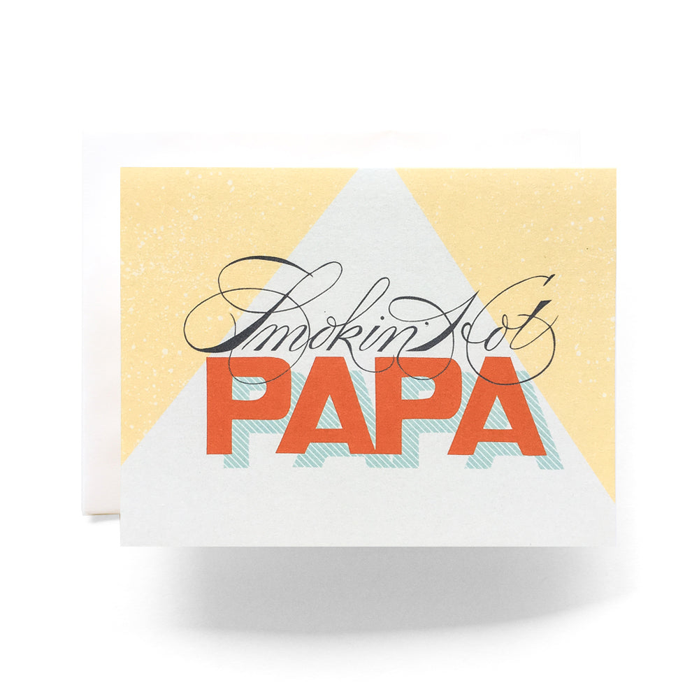 Antiquaria - Smokin' Hot Papa Greeting Card