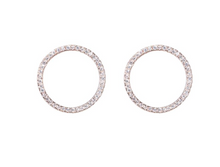 Melrose Open Pavé CZ Circle Earrings