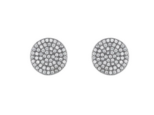 Melrose Pavé Disc Earrings