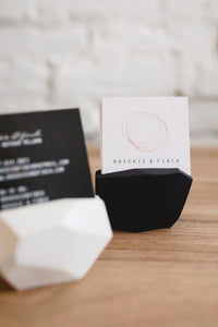 Dovekie & Finch - Black Short - Gemstone Business Card Holder