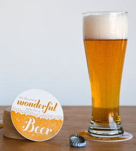Wonderful Time for a Beer Coaster