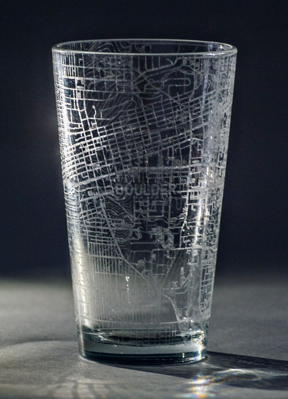 Outward Cartography - Engraved City Pint Glasses