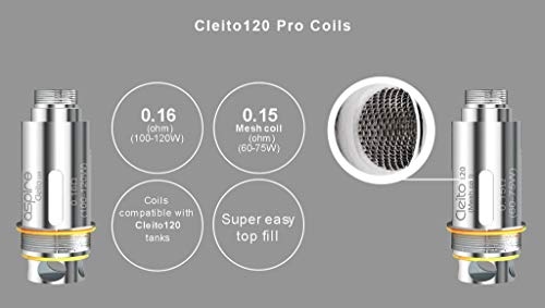 Aspire Cleito 120 Pro Mesh Replacement Coils