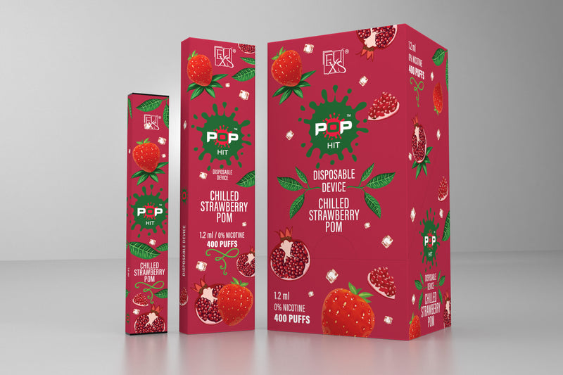Pop 1.2 ml Disposables 5% Nic - Chilled Strawberry Pom