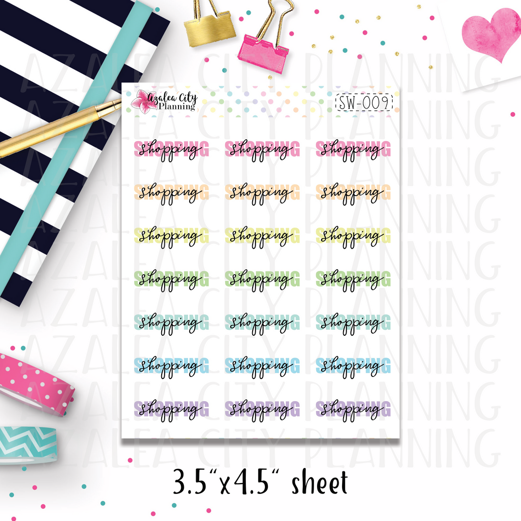 Shopping Script Stickers