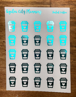 Foiled Coffee Stickers