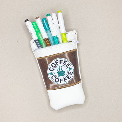 Coffee Cup pen pouch