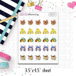 AC Character Decor Stickers