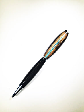 Walnut with Acrylic & Marblewood Inlay Pen