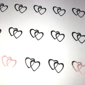 Foiled Heart Stickers
