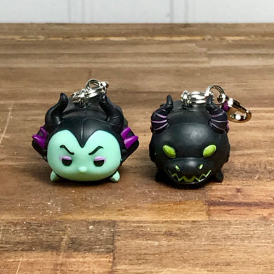 Maleficent and Dragon charms