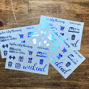 Foiled Sampler Stickers