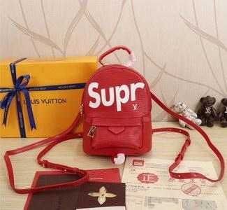 ec70574fef22 Supreme x Louis Vuitton Mini Red Epi Backpack