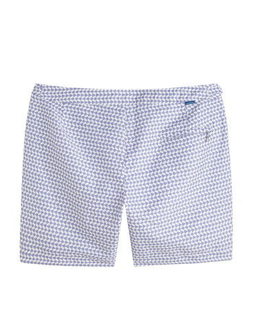 Kids Striped White Navy