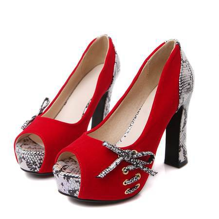 Chaussures de mariage rouge
