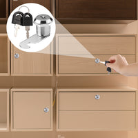 Cabinet Drawer Mailbox Door Cupboard Security Cam Lock with 2 Keys (25mm)