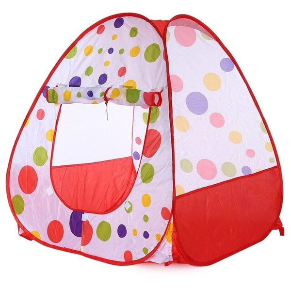New Lovely  Polka dots Children Folding Tent Portable Toy House and Outdoor Camp Game for Kids Parents Hide and Seek