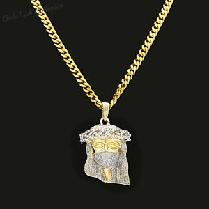 14k Gold Iced out Jesus