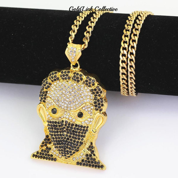 14k Gold Iced out Boondocks Pendant