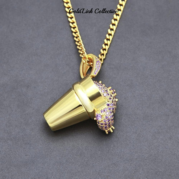 14k Gold Iced out Lean Cup