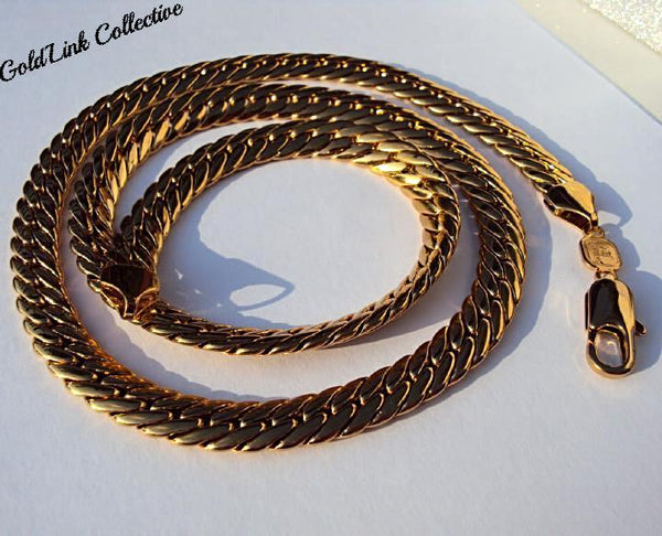 18k Gold 9mm Gold Curb Link Chain