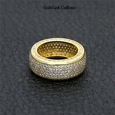 14k Gold Triple Sided Diamond Ring
