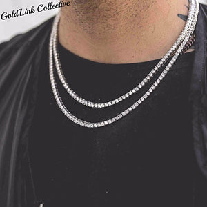 Silver Diamond Tennis Chain