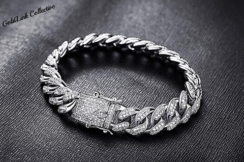 13mm Diamond Cuban Link Bracelet