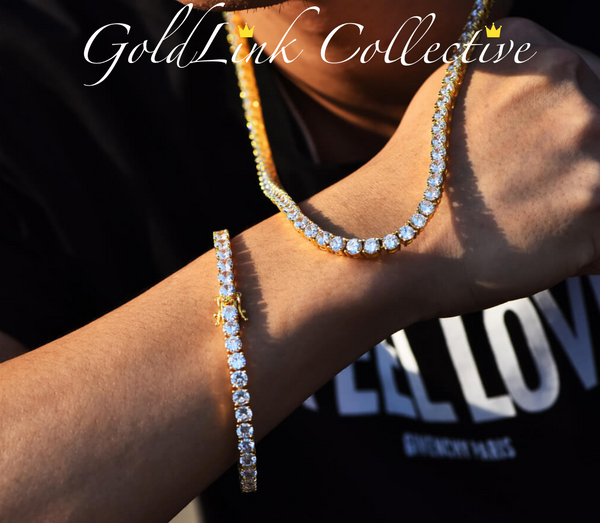 18k Gold Diamond Tennis Chain