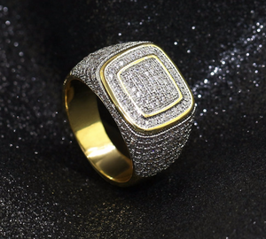 14k Gold Micro Pave Ring
