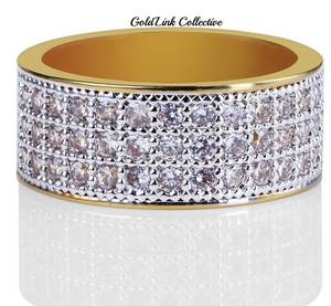 14k Gold Skinny Micro Pave Ring
