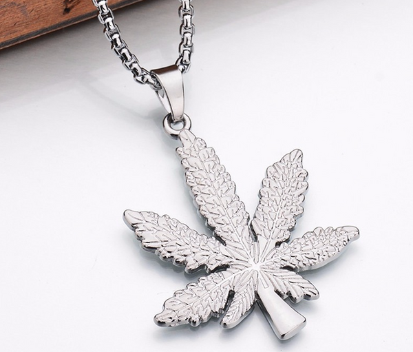 Silver Weed Pendant