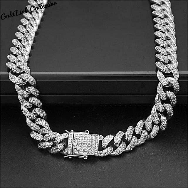 13mm Diamond Cuban Link Chain
