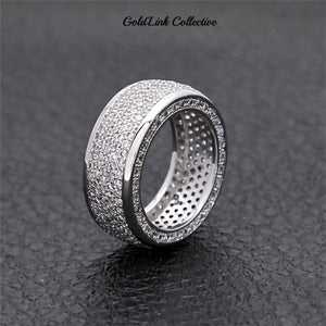 Silver Triple Sided Diamond Ring