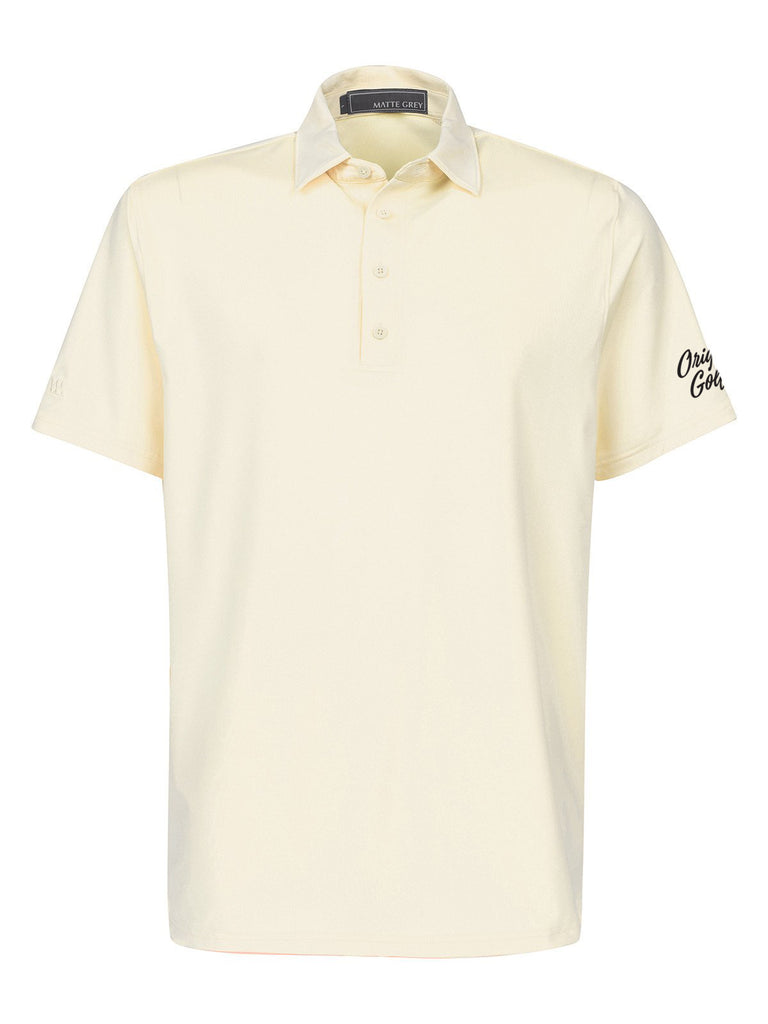 MATTE GREY MENS POLO - CAPTAIN - MELLOW YELLOW
