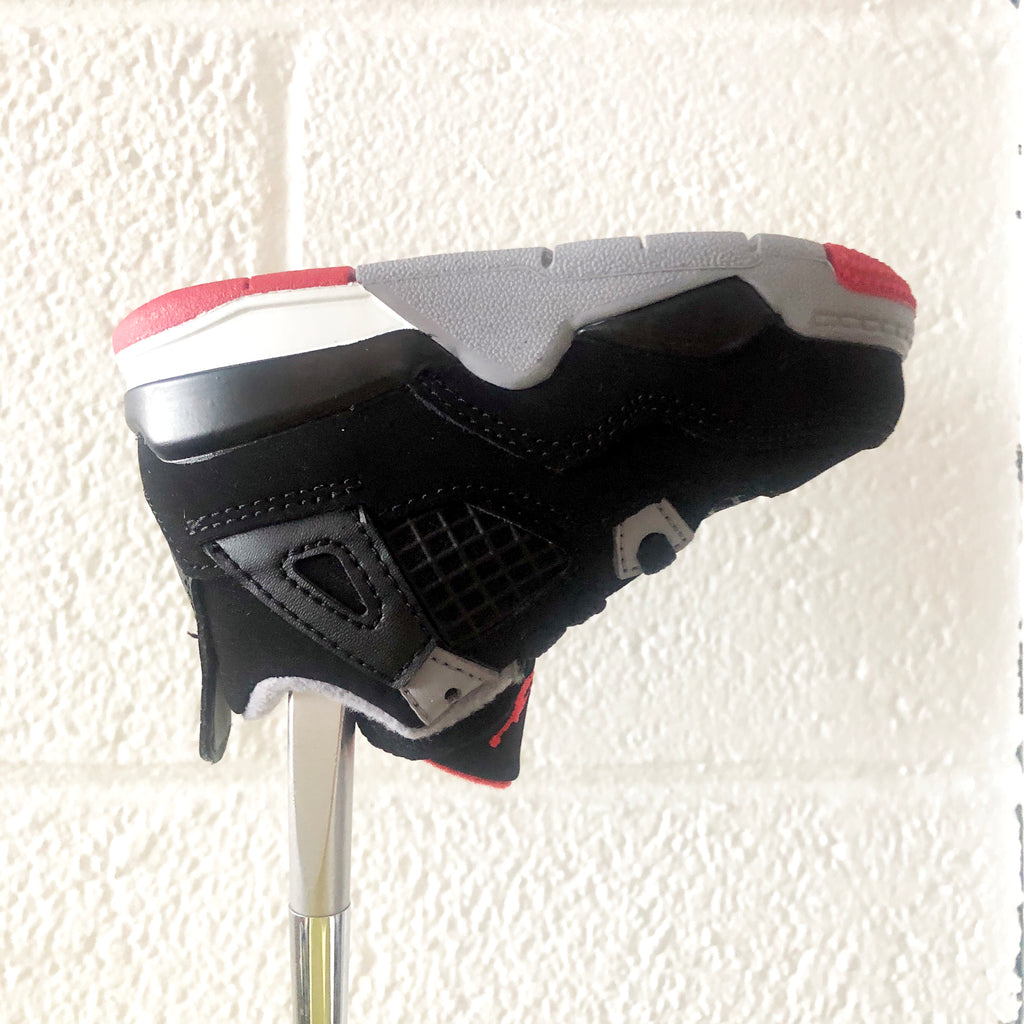"AJ4 ""BRED"" PUTTER HEADCOVER (BLACK / FIRE RED / CEMENT GREY)"