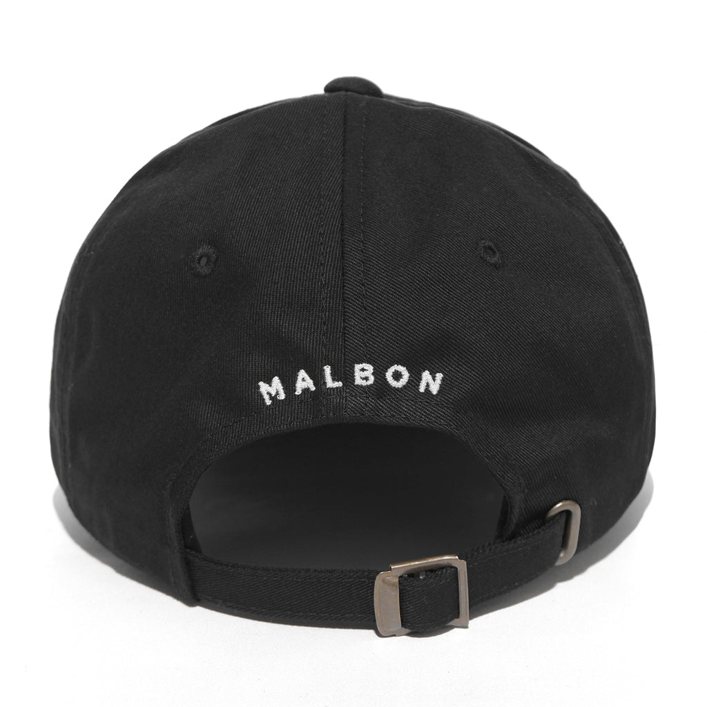 MALBON GOLF BUCKETS MINI LOGO DAD HAT (BLACK)