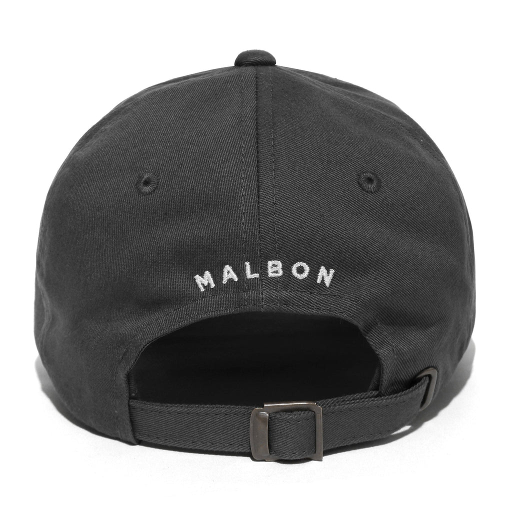 MALBON GOLF BUCKETS MINI LOGO DAD HAT (GREY)